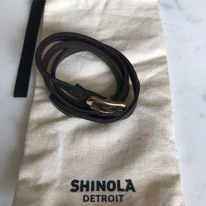 *NWOT* Shinola Triple Wrap Stitch Leather Bracelet